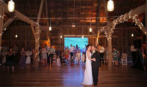 barn-weddings-2 first dance, Justin Trails Resort, Sparta, WI