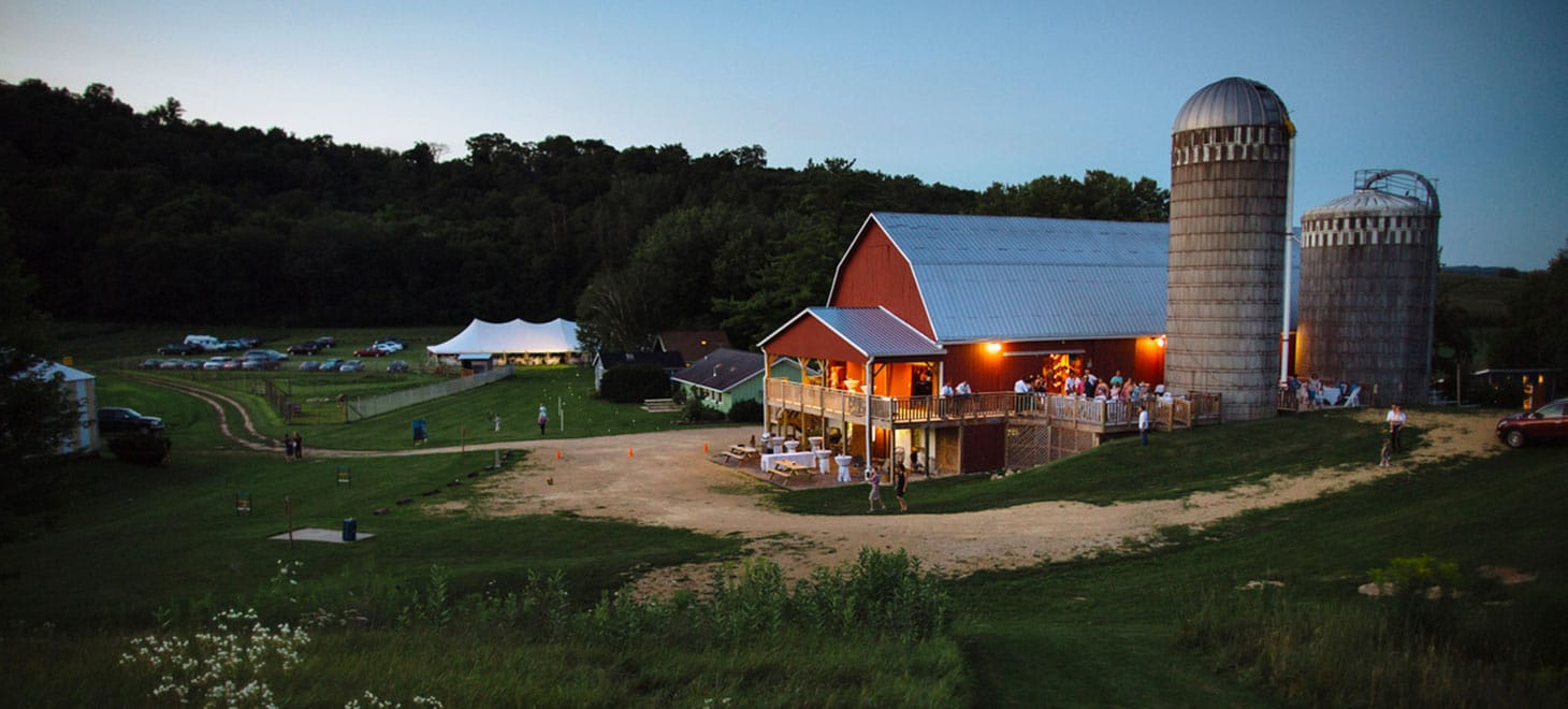 Wisconsin Bed and Breakfast Barn Weddings