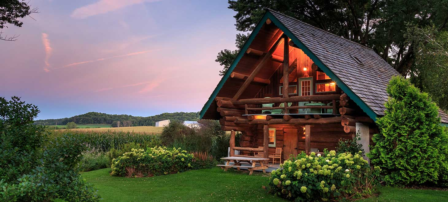 Romantic Cabin at our Wisconsin Bed and Breakfast