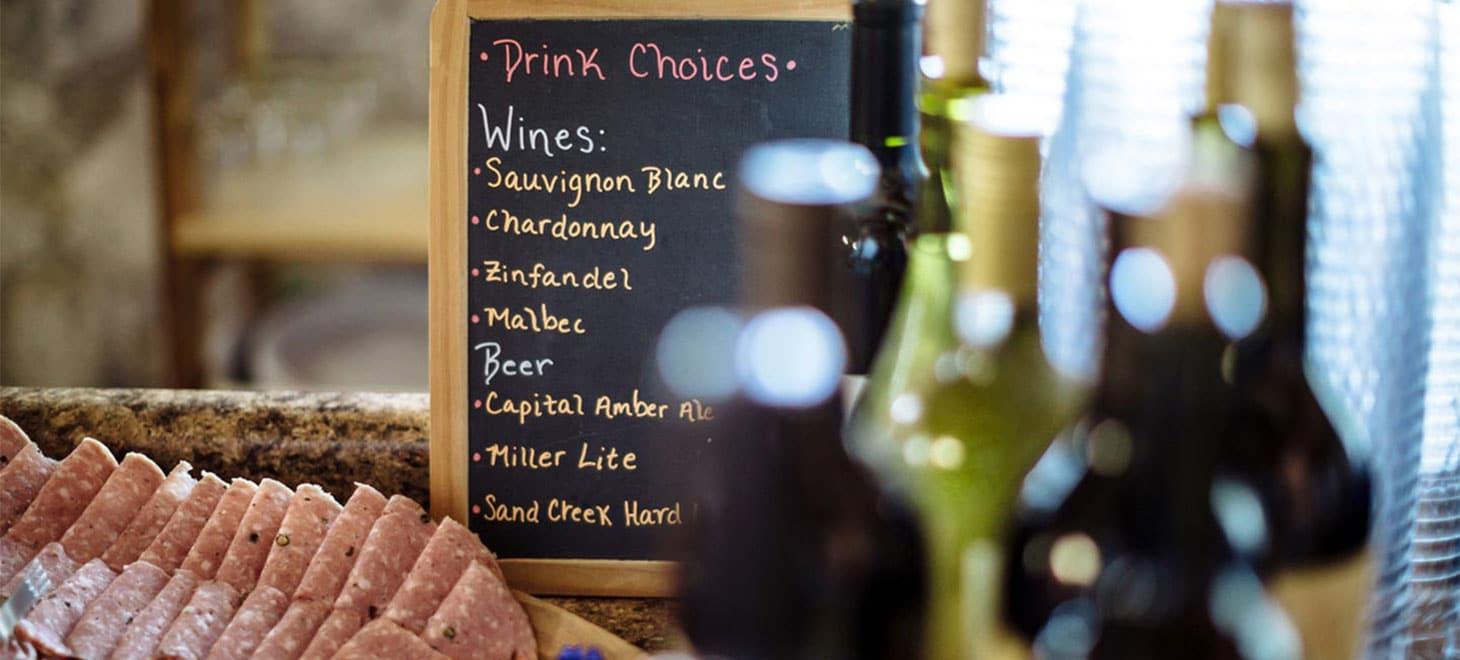 Wisconsin Retreats wine list
