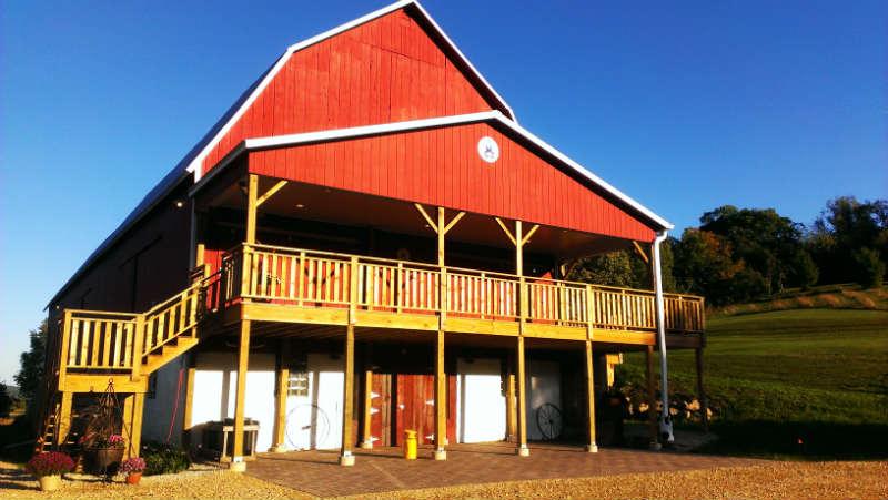 Elegant barn wedding venue, Sparta, WI, Justin Trails Resort