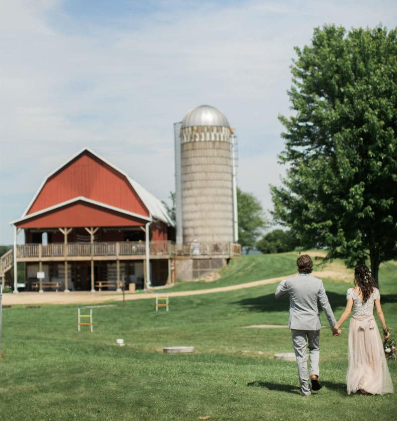 yard games, Justin Trails Resort, Sparta,Wisconsin barn wedding venue