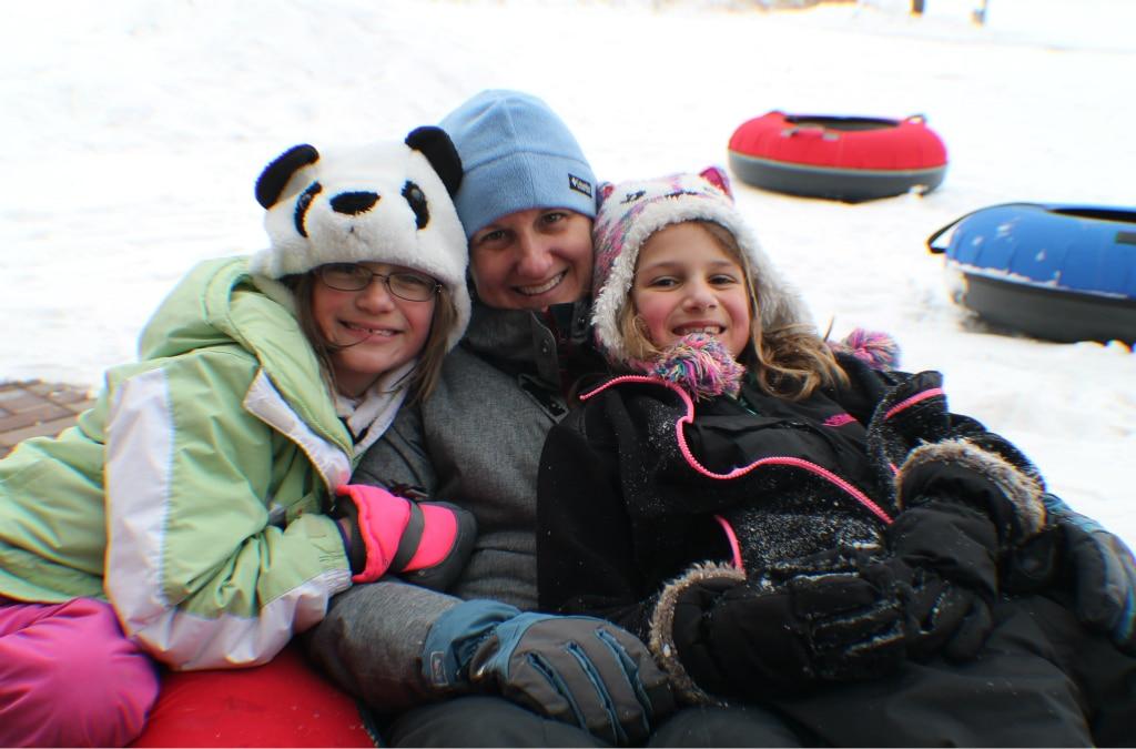 Snow tubing at Justin Trails Resort