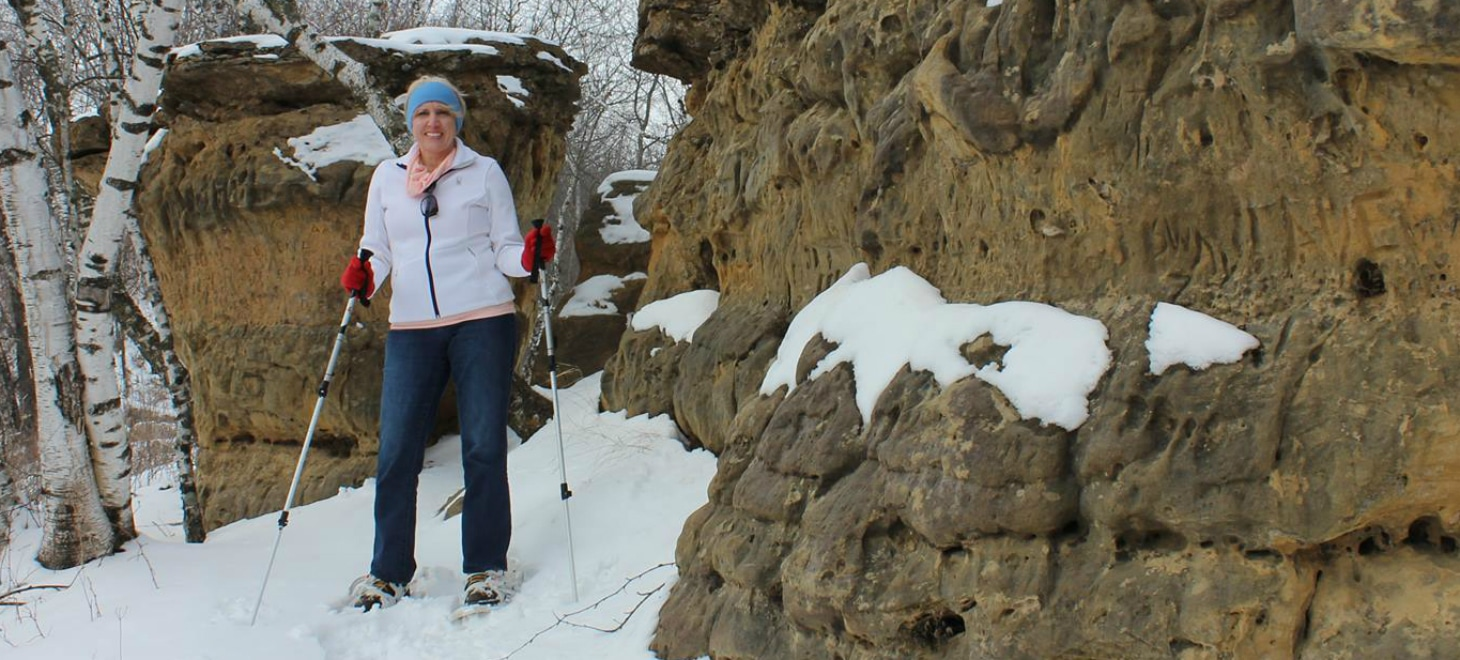 Snowshoeing at The Rock Wisconsin Bed and Breakfast