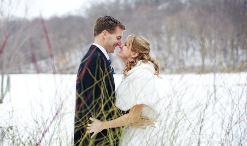 Groom and bride enjoying a private moment, elopement, Justin Trails Resort, Sparta, WI
