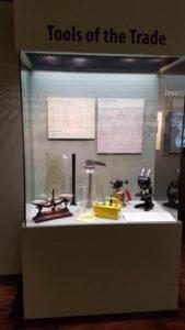 Tools of Trade display Genoa Fish Hatchery, Genoa, WI