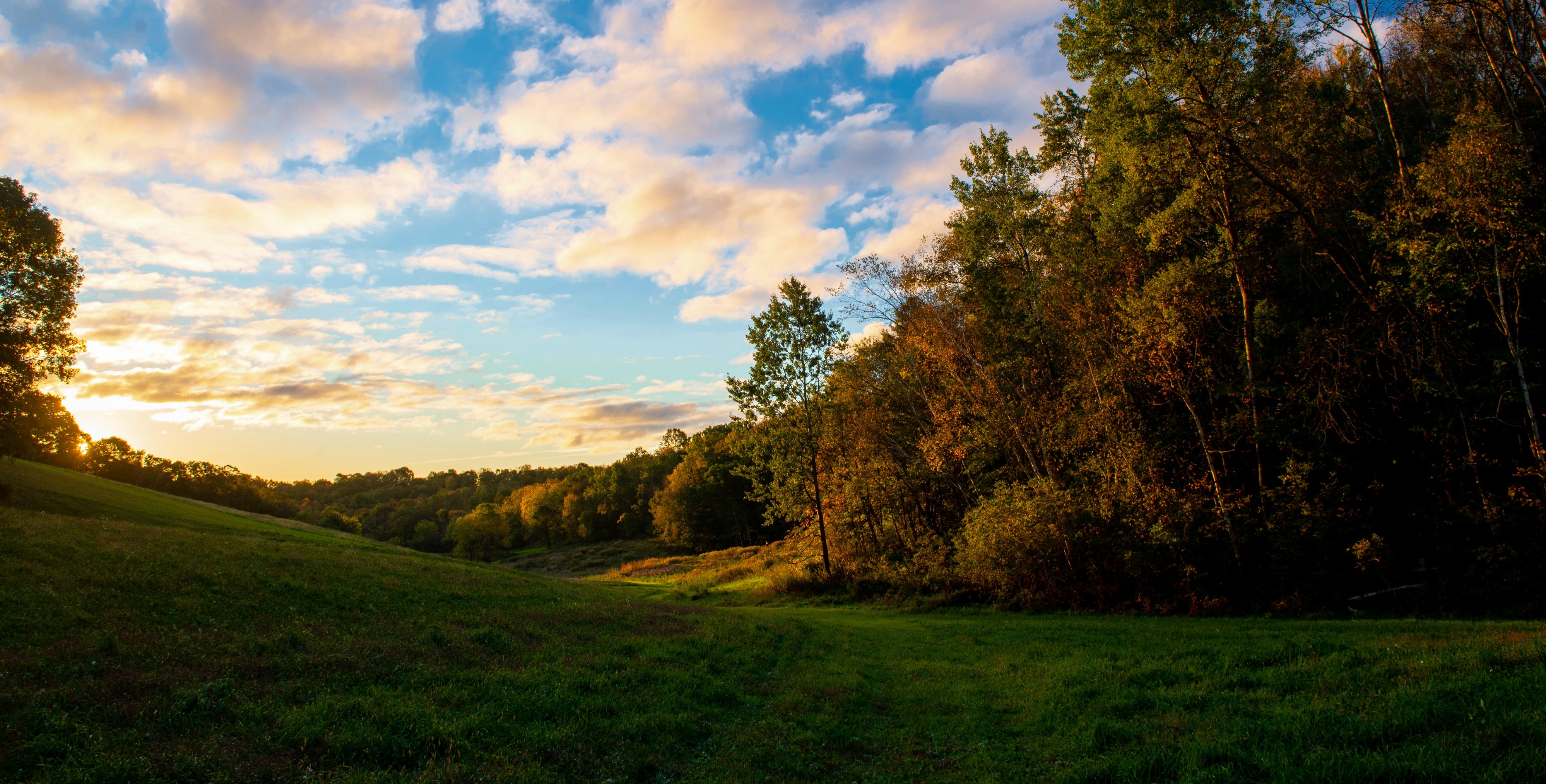 Valley during Fall Season Photo by Jason Ray