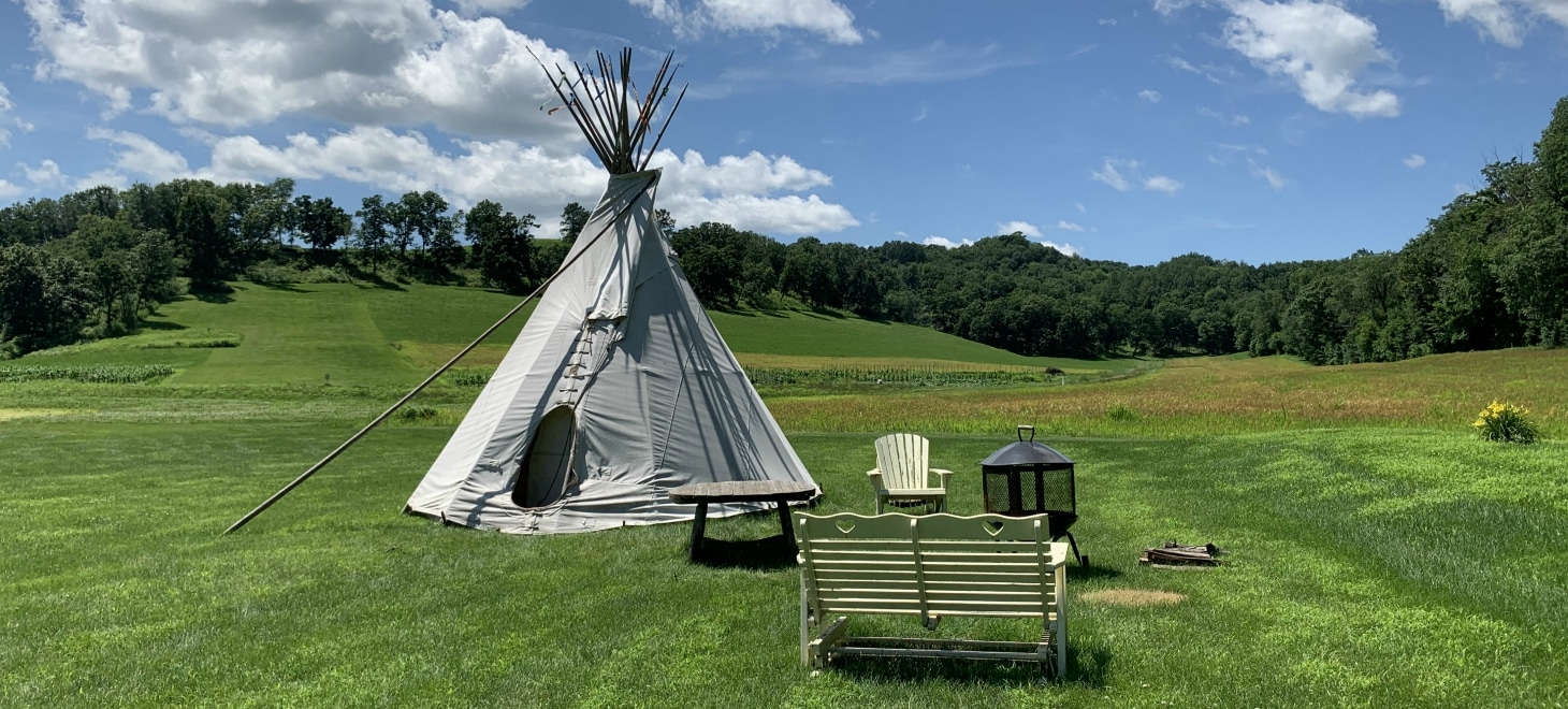Hand-crafted Sioux-style Tipi created by the Colorado Yurt Company