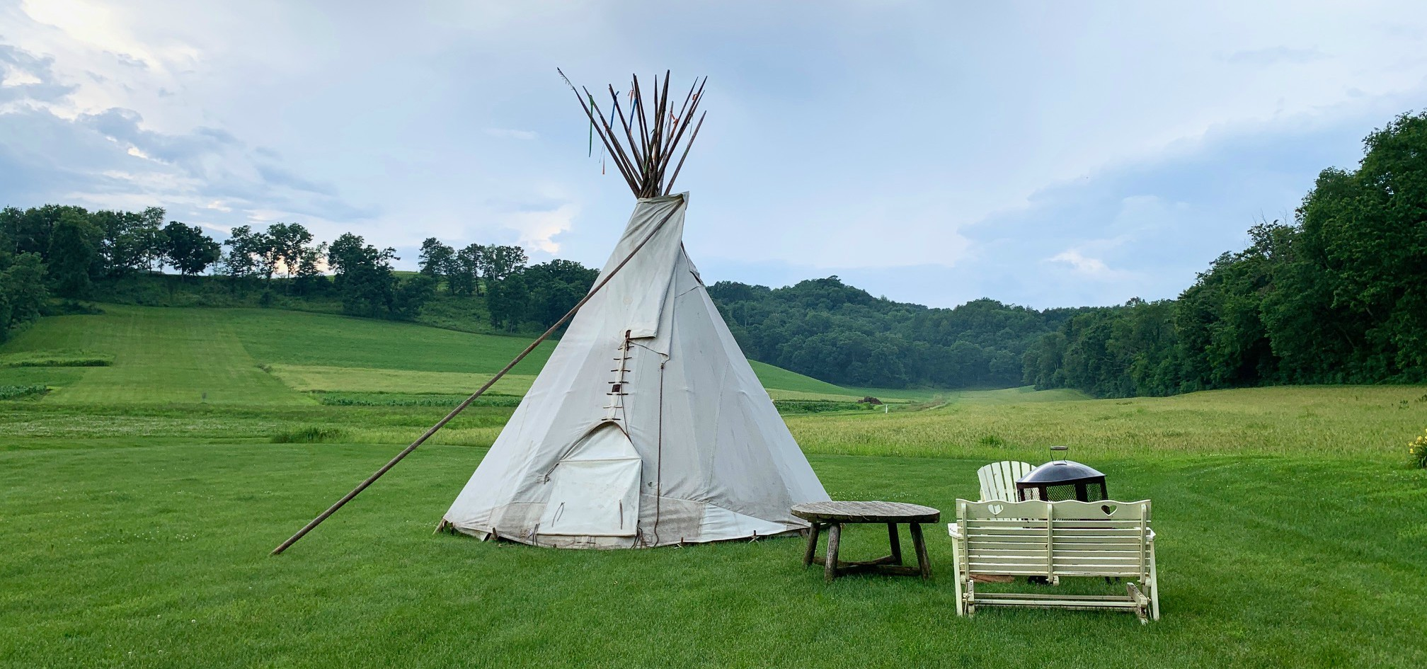 H and-crafted Sioux-style Tipi created by the Colorado Yurt Company