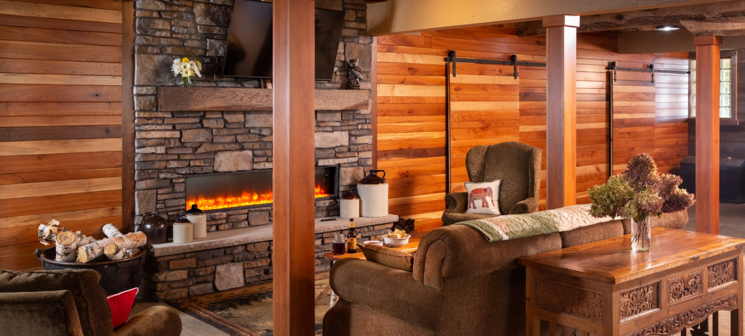 Retreats & Events: Gas Fireplace Inside The Studio