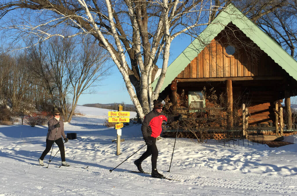 We offer several miles of groomed cross-country skiing trails at our Wisconsin Bed and Breakfast.