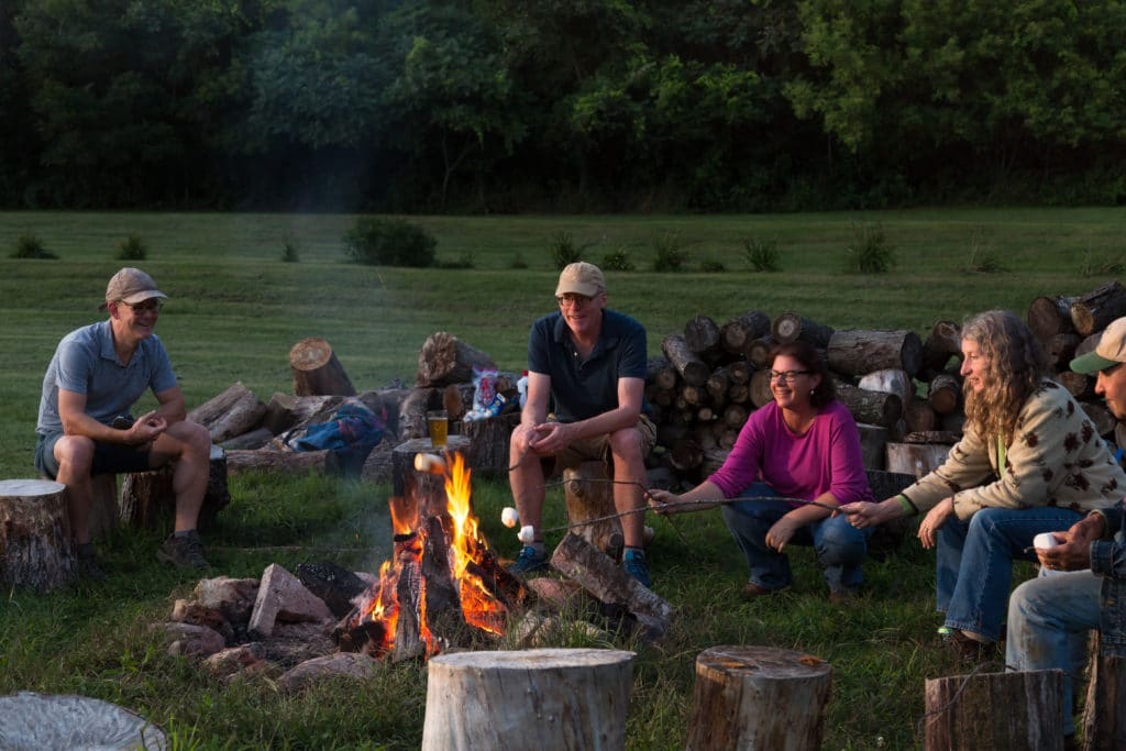 The firepit at our Wisconsin Bed and Breakfast is a beautiful place to pass into the sunset.