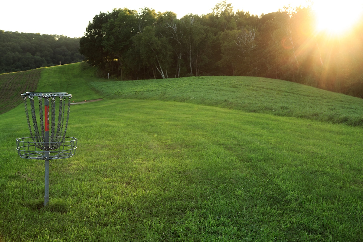 Basket #16 on the Big Brother Disc Golf Course at Justin Trails Resort